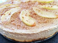 Raw Ginger Pear Cheesecake With Maple Glaze