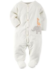Carter's Babys' One-Piece Giraffe and Elephant Footed Pajamas