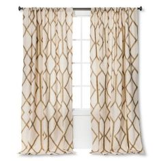 "(1) Threshold GOLD METALLIC TRELLIS Window Panel 54"" X 84"" Multicolor NWOP #Threshold #Modern"