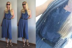 Blue summer dress | Mango