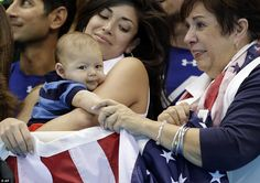 Baby Boomer gave his grandmother a supportive hand as she nervously watched her son's final race