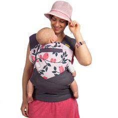 Those, who prefer traditional methods of babywearing, but would like to tie more simply and look stylish at the same time, usually go for a Lili-Tai. Mei Tai Baby Carrier, Babywearing, Organic Cotton, Rose, Fabric, Pink, Fashion, Tejido, Moda