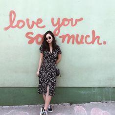 Get this look: http://lb.nu/look/8993846  More looks by Tiffany Wang: http://lb.nu/tiffwang  Items in this look:  Reformation Dress, Vans Sneakers, Ray Ban Sunglasses   #chic #romantic #street #reformation #wrapdress #vans #vansoldskool #sporty #athleisure