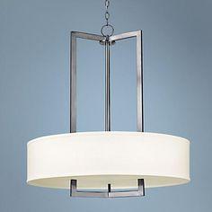"$800 Hinkley Hampton Collection 30"" Wide Nickel Pendant Light"
