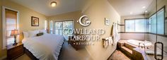 Save on a Stay for Two+ in 1 of 6 Select Rooms, Suites & Vacation Houses at Gowlland Harbour Resort on Quadra Island! Includes Hot Breakfast Both Days! Honeymoon Suite, Stay The Night, The Selection, Beach House, Cozy, Island, Bed, Breakfast, People