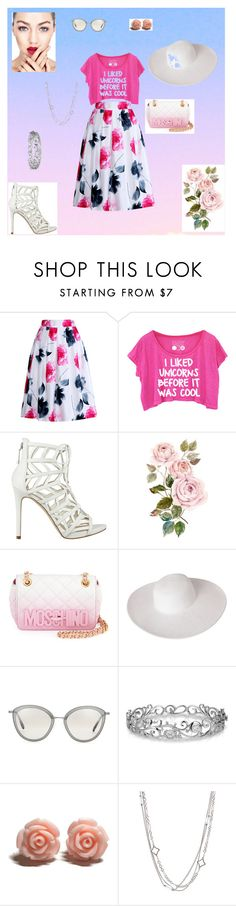 """""""Happy flowers"""" by merima-sisic ❤ liked on Polyvore featuring Relaxfeel, GUESS, Moschino, Dorfman Pacific, Oliver Peoples, Effy Jewelry, David Yurman, women's clothing, women and female"""