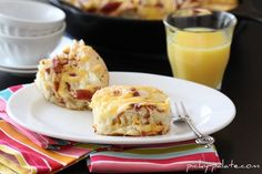 Cheesy Bacon Biscuits...uses refrigerated biscuit dough, mozzarella and cheddar cheese and bacon baked in an iron skilled for these pull-apart biscuits.