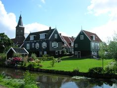 Truly beautiful Dutch countryside of Marken, Netherlands