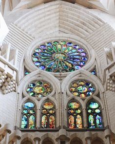 A little peek inside Sagrada Familia by far thehellip