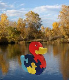 Wooden Duck Puzzle by RikmaProducts on Etsy