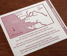 Customized maps for your #wedding #invitation suite. | Invitations by Ajalon | http://invitationsbyajalon.com/