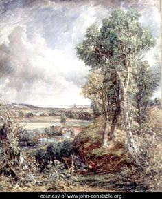 John Constable (British: 1776–1837) - Vale of Dedham, 1828