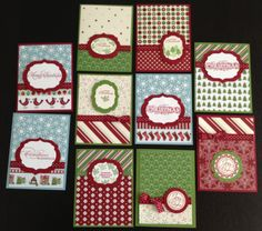 holiday print stampin up retired card   Mass-Producing Custom Christmas Cards   Stampin Up Demonstrator Blog ...