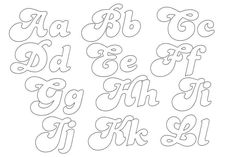 Bubble Letters, Fancy Fonts, Alphabet Design, Letter Stencils, Creative Lettering, Calligraphy Alphabet, Types Of Lettering, Tattoo Fonts, Printable Coloring Pages