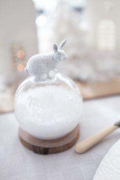 #DIY Boule de neige - marque places