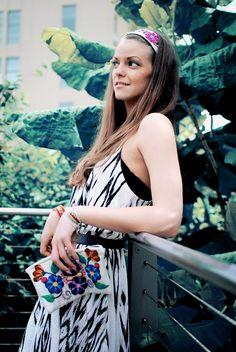 Boho Makeup Bag, headband, and bracelets handmade from Peru available at www.kusilife.com