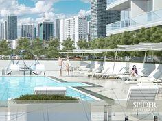 Contará con una piscina en el cuarto piso, además de un Skylounge completo con piscina y bar al aire libre y un salón en la azotea.