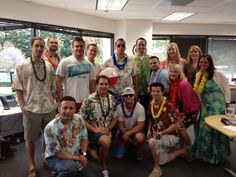 Marketo's Sales team dressed up for Hawaiian Luau Day - every day is party day at Marketo. A great example of how to use Pinterest to show off your corporate culture.