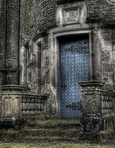 Doors at an abandoned castle In Scotland ..rh