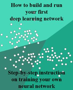 How to build and run your first deep learning network. Step-by-step instruction on training your own neural network. By Pete Warden