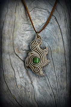 Turquoise gemstone tibal pendant spirit maori symbol shaman ethnic necklace…