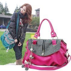 New Fashion Casual Women's Tote Shopper PU Leather Bag Purses Handbags Shoulder Bag