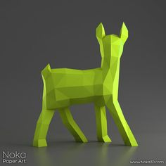 Fawn Deer Cub 3D papercraft model. Downloadable por NokaPaperArt