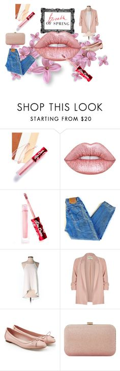 """""""Spring lips"""" by pippi8001 ❤ liked on Polyvore featuring beauty, Lime Crime, Levi's, Tobi, River Island, Salvatore Ferragamo and Dune"""