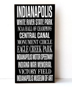 Look at this #zulilyfind! Indianapolis Subway Wall Sign #zulilyfinds