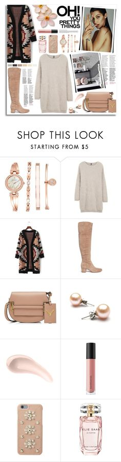 """Bella Hadid"" by kumi-chan ❤ liked on Polyvore featuring Anne Klein, Eleventy, Sam Edelman, Valentino, Soap & Glory, Bare Escentuals, MICHAEL Michael Kors and Elie Saab"