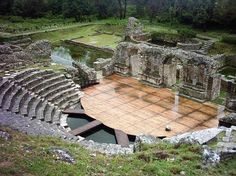 Butrint, Albania. Theatre of antic Butrint.