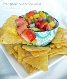 Fresh Peach and Avocado Salsa – Tailgating Recipes Version 4
