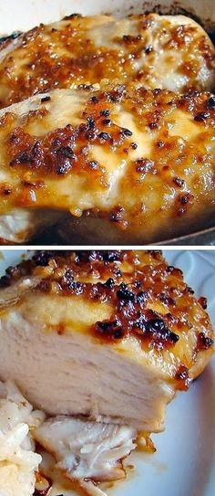 Easy Garlic Chicken - the perfect light crust.