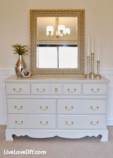 Hometalk :: Dresser Makeover & Painting Tutorial at LiveLoveDIY