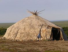 Yaranga is the traditional home of Chukchi reindeer herders. Description from dinets.info.