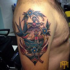 Anchor tattoo by Luke Smith from Trade Mark Tattoo Durban South Africa.