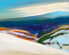 Ann Rea - Savor the Colors of the Moment - Distant Snow Original Oil Painting