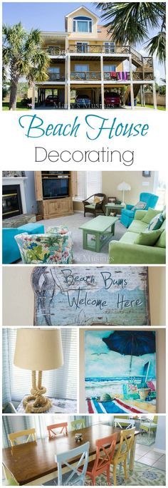 Full of detailed pictures and decor, this post contains so many beach house decorating ideas that you will be dreaming of your own escape one day! Add this beauty to your dream home file! From Marty's Musings