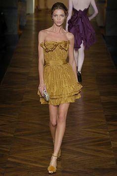 Saint Laurent Spring 2005 Ready-to-Wear Fashion Show - Karen Elson