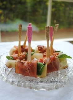Party Food: Pear, Goat Cheese, & Prosciutto Bites | Made by a Princess Parties in Style