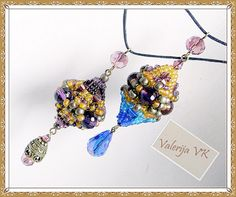 """Scheme """"pendant with bronze""""   biser.info - all about beads and bead work"""