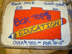 I made this for the class with the most box tops.