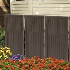 Outdoor Privacy Screen Panels 4 Enclosure Backyard Patio Resin Wicker Porch for sale online Foyers, Bar Patio, Patio Seating, Privacy Screen Outdoor, Privacy Screens, Outdoor Fencing, Privacy Fences, Garden Fence Panels, Garden Edging