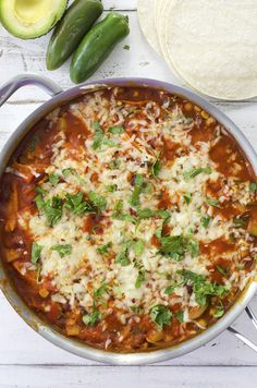 Vegetarian Enchilada Skillet.