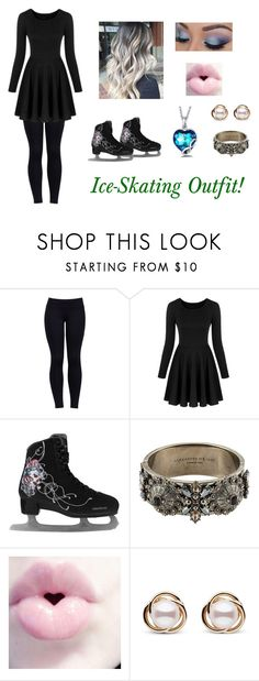 """Ice-Skating Outfit!"" by slytherin-girl-hogwarts ❤ liked on Polyvore featuring Varley, Alexander McQueen, Trilogy and ice"