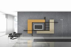 Top 30 Simple Tv Unit Design For Living Room Latest Wall Tv Cabinet Design For H. - Home Interior Pedia Tv Cabinet Design, Tv Wall Design, Simple Living Room, Living Room Tv, Modern Living, Modern Tv, Simple Tv Unit Design, Bedroom Wall Units, Bedroom Shelves