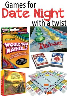 Games for date night with a twist. Perfect for Valentine's Day!
