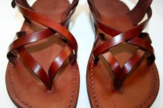 ba45abf2764 Brown Mix Leather Sandals by SANDALI on Etsy - Why do I have to be on