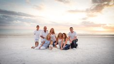 Family photography session on Siesta Key Beach, Sarasota, Florida with adult children, grandchildren, and grandparents. Sunset photo shoot with family. #familyphotography #familyphotoshoot #beachphotoshoot #vacationphotoshoot #sarasotaphotographer #tampaphotographer #familyposingideas #largefamilyphotos @stacywashburnphotography