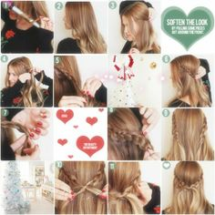 long braided hairstyles tutorials with long straight extensions hair clip on for christmas